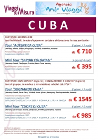 Il Cuore di Cuba Tour promozionali